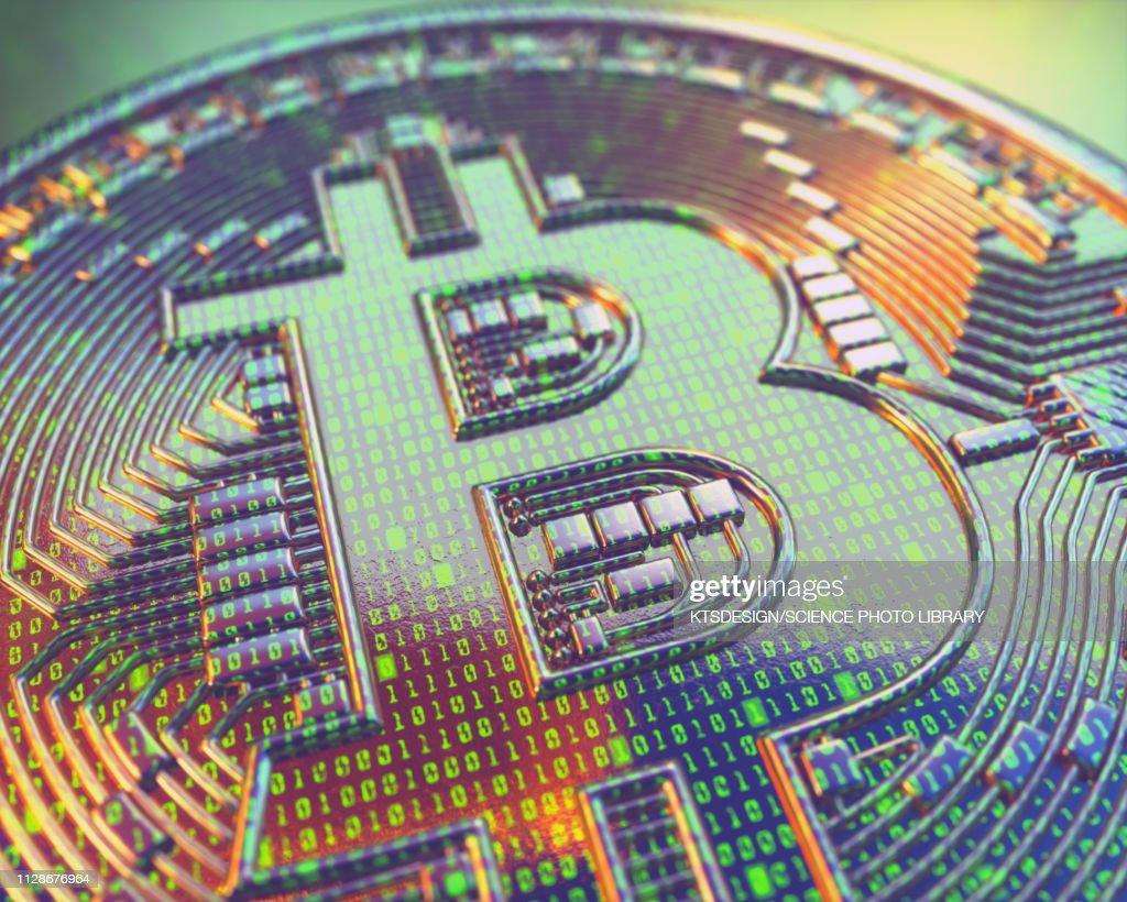 Bitcoin, illustration : ストックイラストレーション