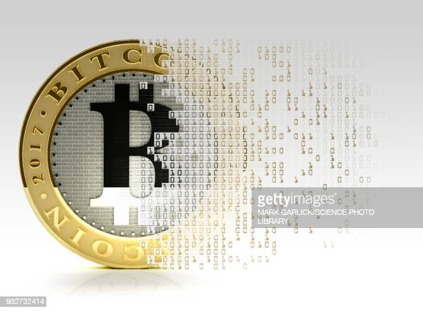 bitcoin, illustration - cryptocurrency stock illustrations