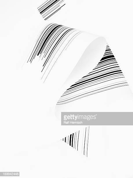 black abstract lines against a white background - triangle shape stock illustrations