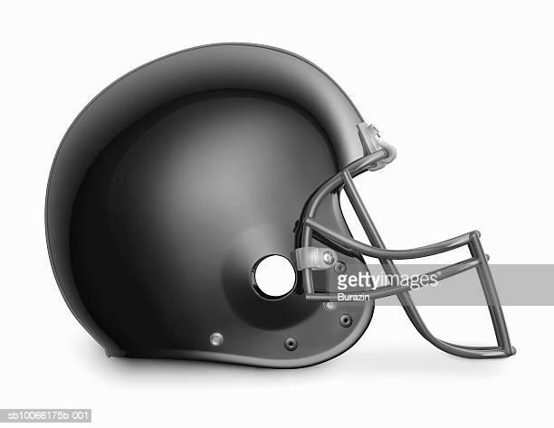 black american football helmet - football helmet stock illustrations