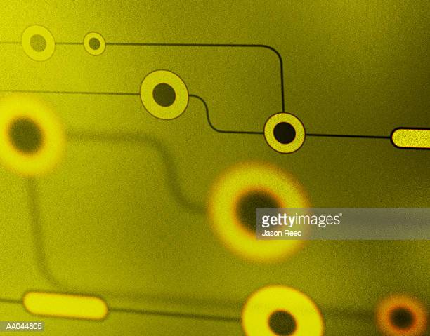 black and green circles and connecting lines - medium group of objects stock illustrations, clip art, cartoons, & icons