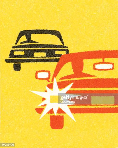 black and red car - traffic stock illustrations