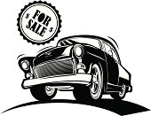 Black And White Classic Car for Sale