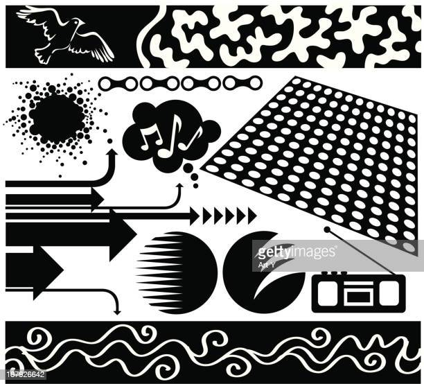 Black and white elements 2