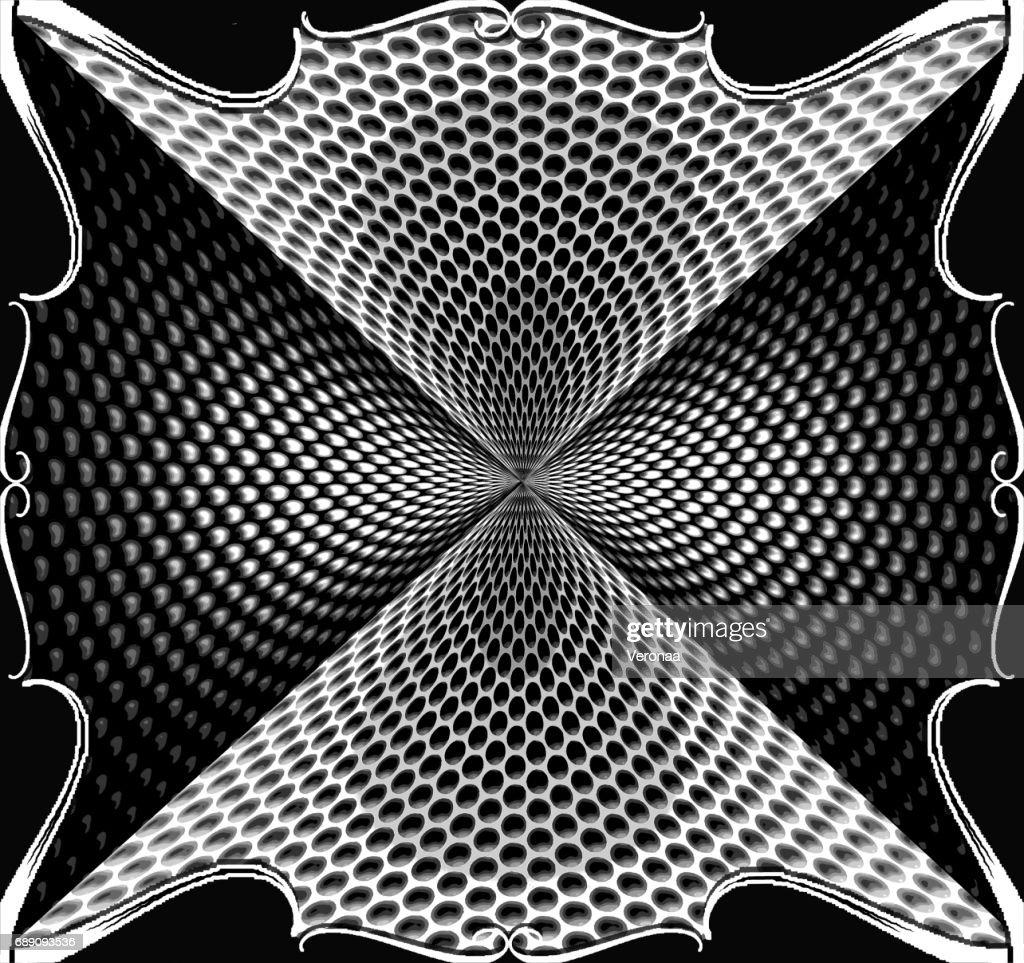 Black and white halftone background : Stock Illustration