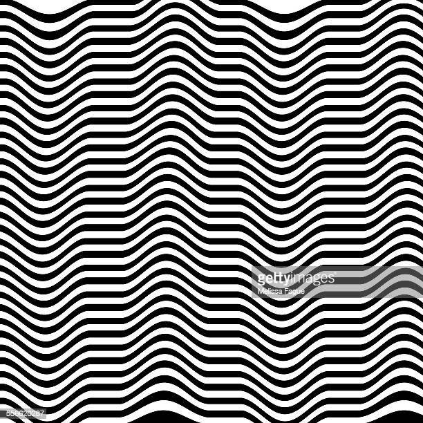 Black and white rippled stripes