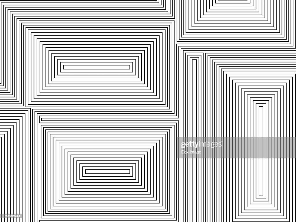 Black block lines against white background : Stock Illustration
