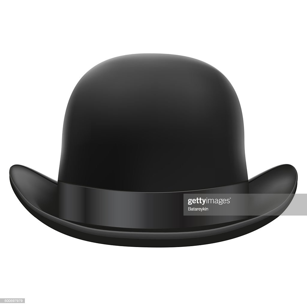 1547edc75a40d Black bowler hat. Isolated on white background. Bitmap copy.   stock  illustration