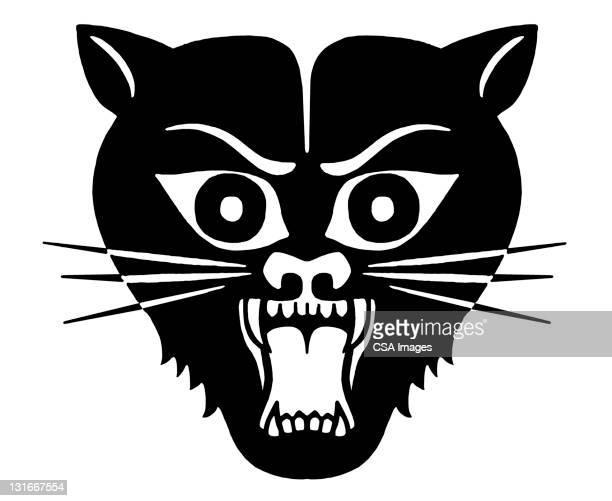 black cat - bad luck stock illustrations, clip art, cartoons, & icons
