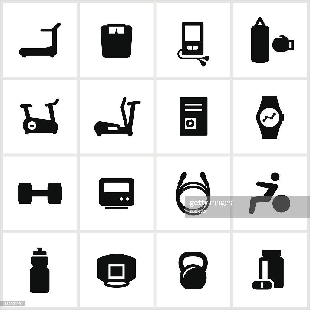 Black Health Club Icons