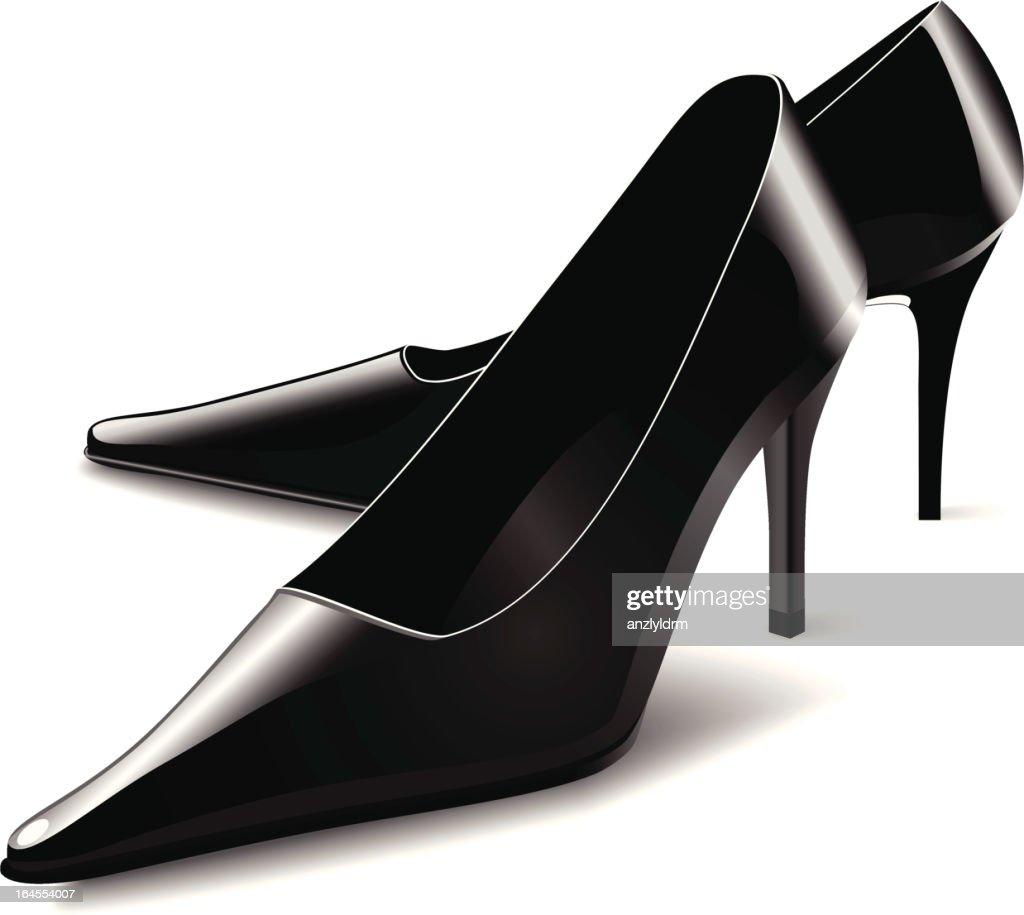 Black High Heeled Shoes : stock illustration