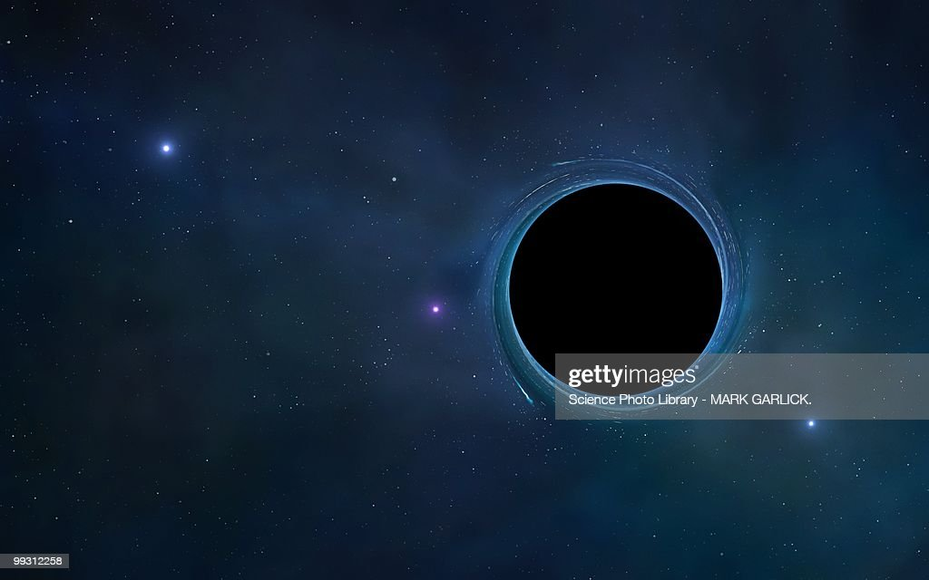 Black hole, artwork : stock illustration