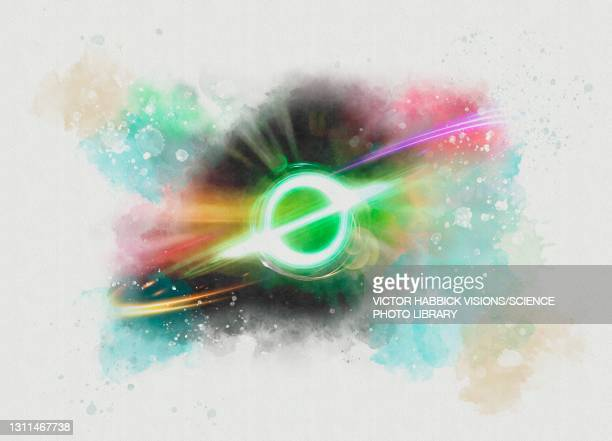 black hole, conceptual illustration - physics stock illustrations