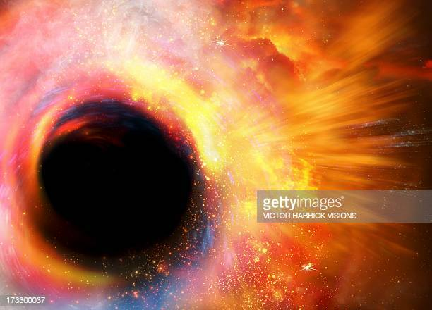 black hole formation, artwork - victor habbick stock illustrations