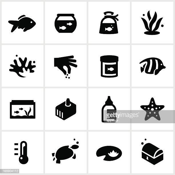 Black Home Aquarium Icons