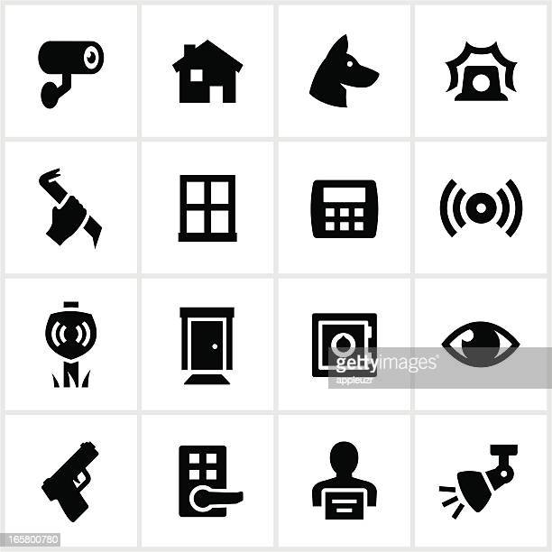 Black Home Security Icons