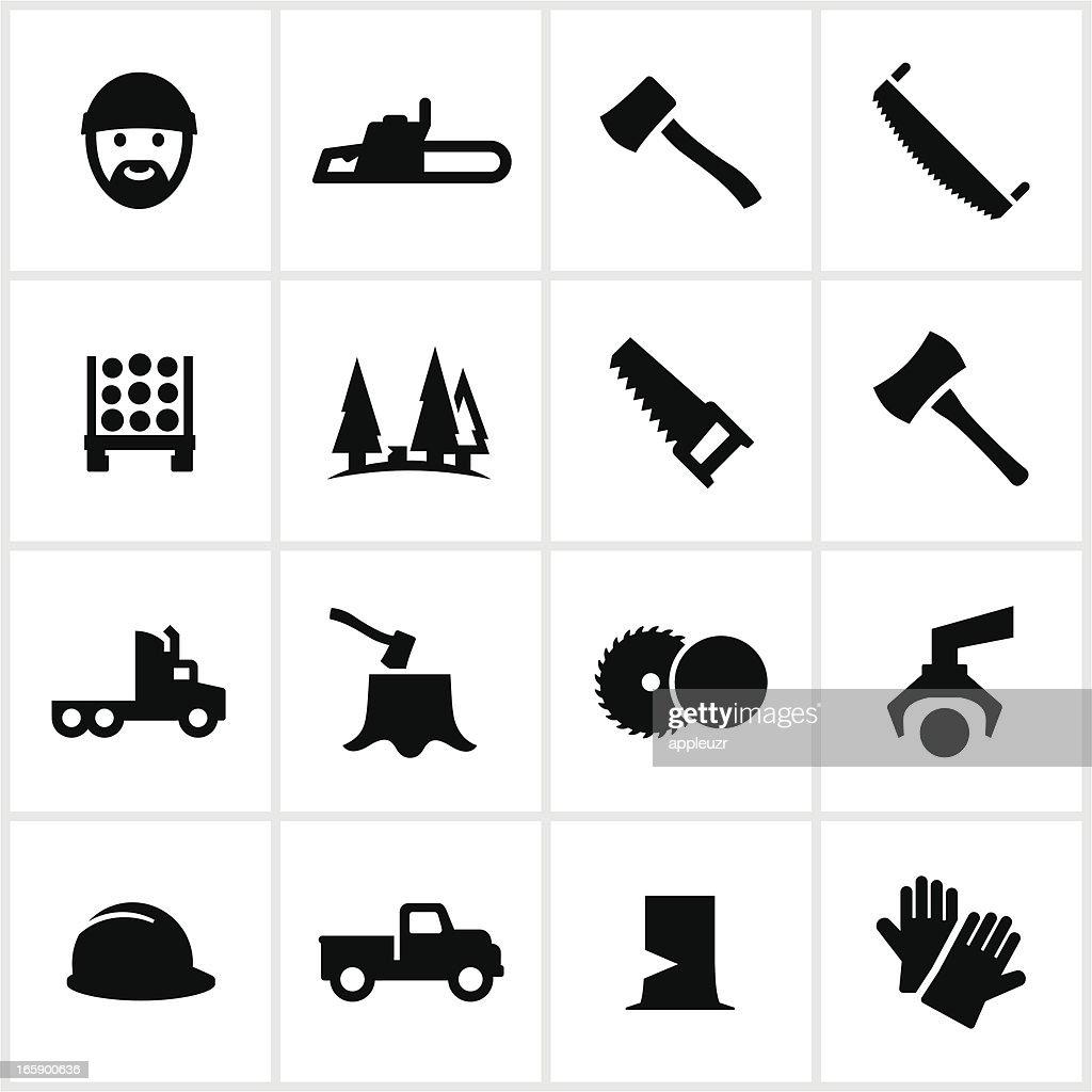 Black Lumberjack Icons