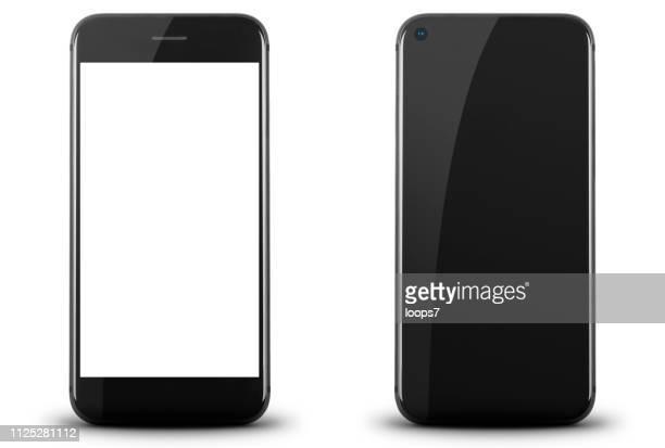 黒のモダンなスマート フォン - タッチスクリーン点のイラスト素材/クリップアート素材/マンガ素材/アイコン素材
