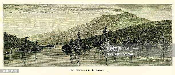 black mountain, new york - zion national park stock illustrations, clip art, cartoons, & icons