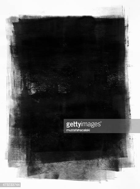 Black painted paper