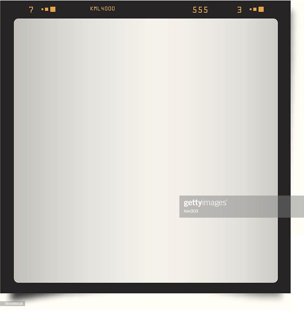Black Polaroid Style Frame