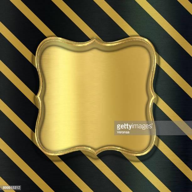 ilustraciones, imágenes clip art, dibujos animados e iconos de stock de fondo negro brillante con líneas diagonales de oro - papel de aluminio