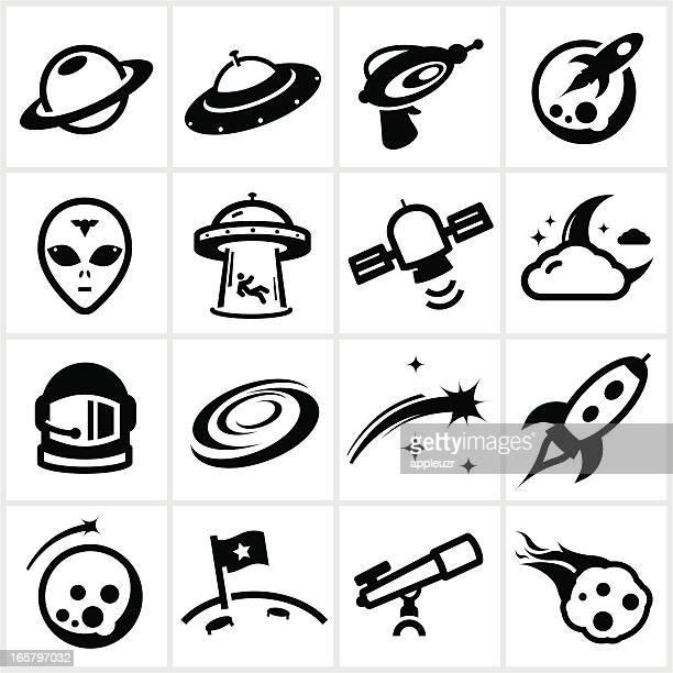 Ícones do espaço negro