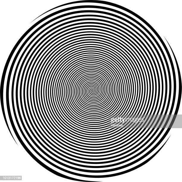 Black spiral on a white background