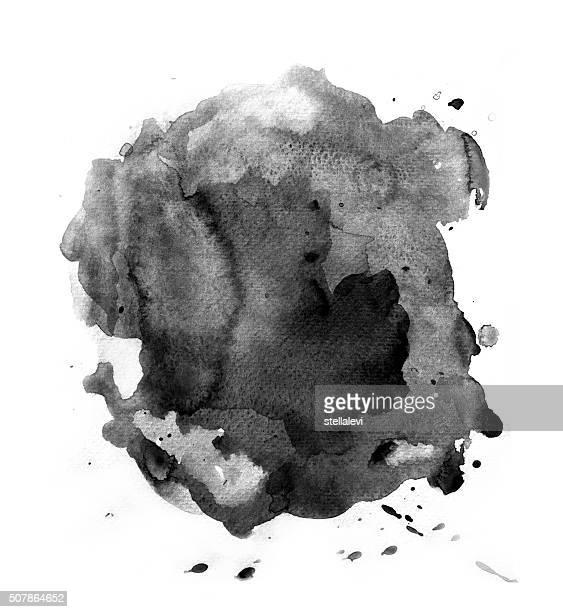 Black splash of watercolor