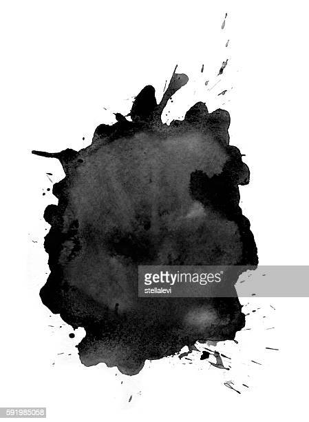 black splash of watercolor - stellalevi stock illustrations