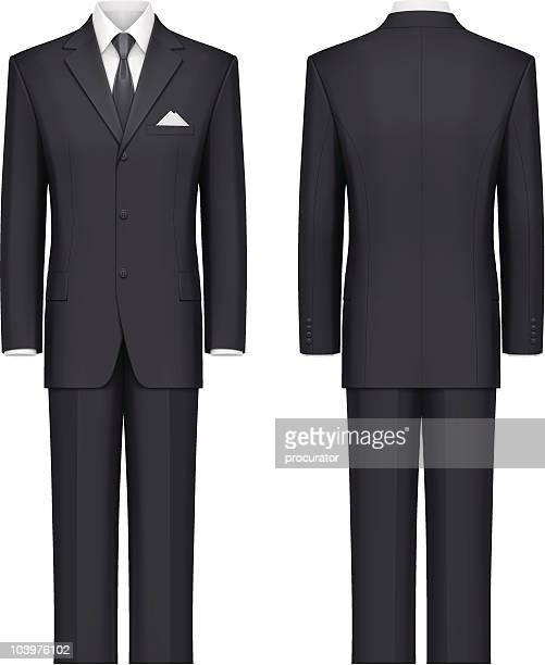 black suit - mannequin stock illustrations, clip art, cartoons, & icons