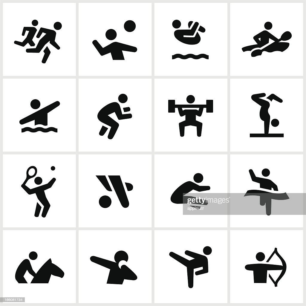 Black Summer Games Icons