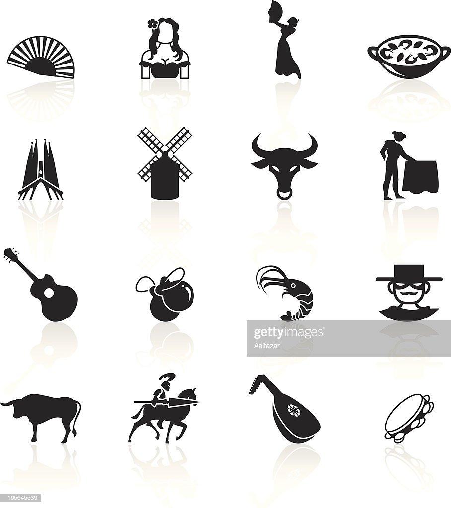 Black Symbols - Spain : stock illustration
