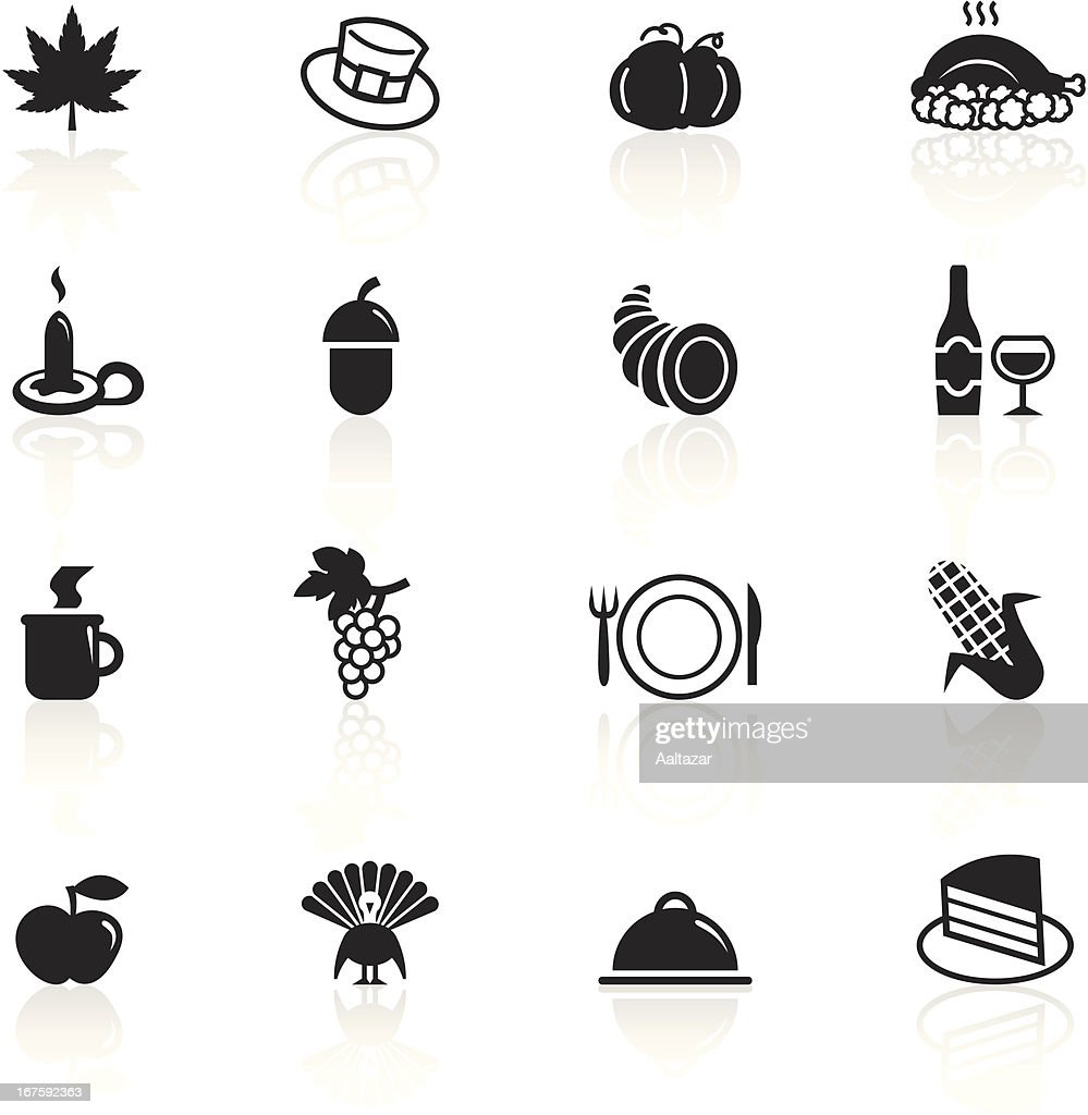Black Symbols Thanksgiving Day Vector Art Getty Images