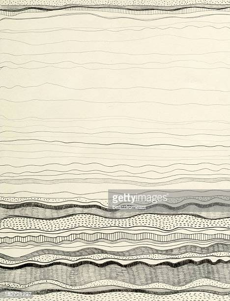 Black wave patterns on cream background