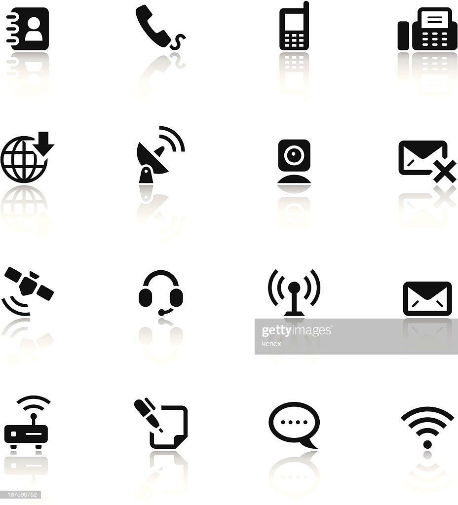 Black & White Icons Set | Communication
