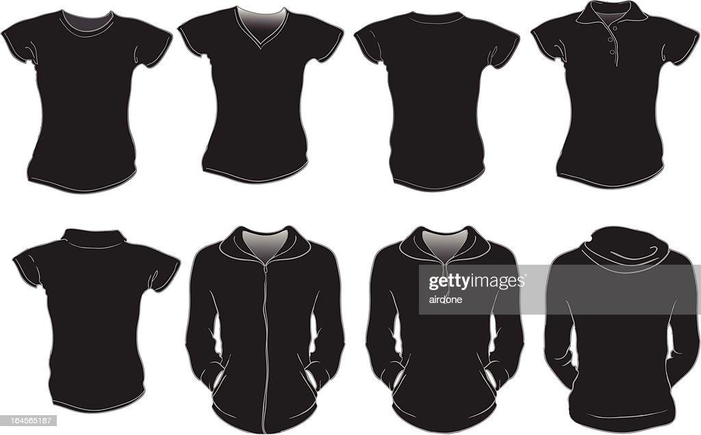 black women shirts template