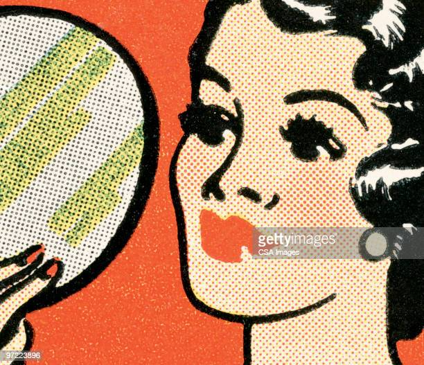 black-haired woman - beauty stock illustrations