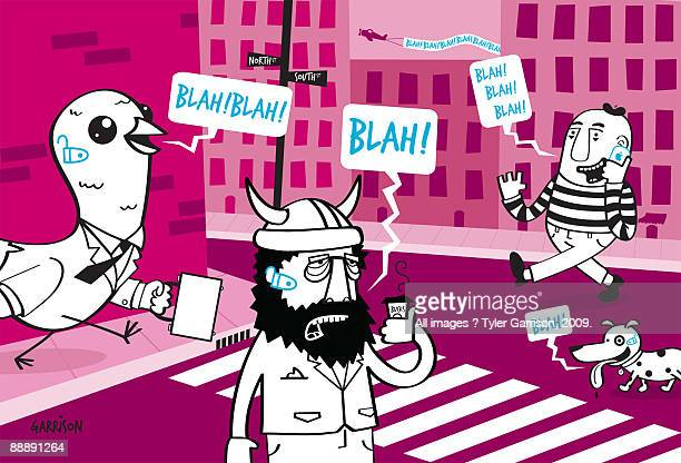 blah blah blah - zebra crossing stock illustrations