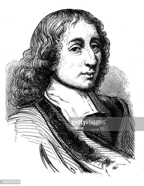 blaise pascal was a french mathematician, physicist, inventor, writer and catholic theologian - physicist stock illustrations, clip art, cartoons, & icons