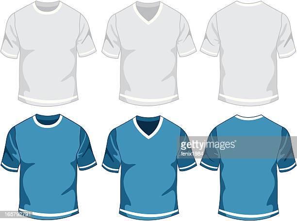 blank mens t-shirt - sports uniform stock illustrations