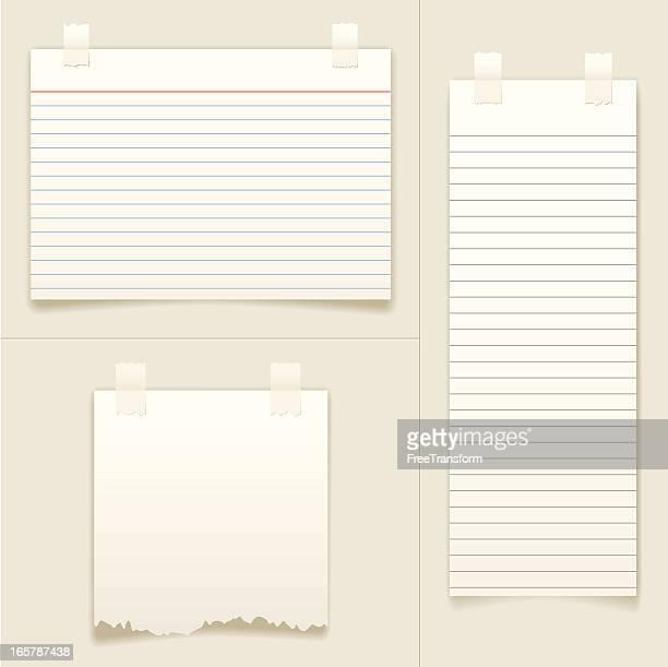 空白メモカード - インデックスカード点のイラスト素材/クリップアート素材/マンガ素材/アイコン素材