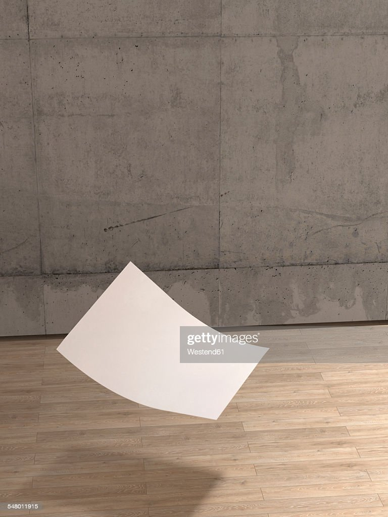 Famous Blank Sheet Of Paper Falling To Wooden Floor Stock Illustration  SF11
