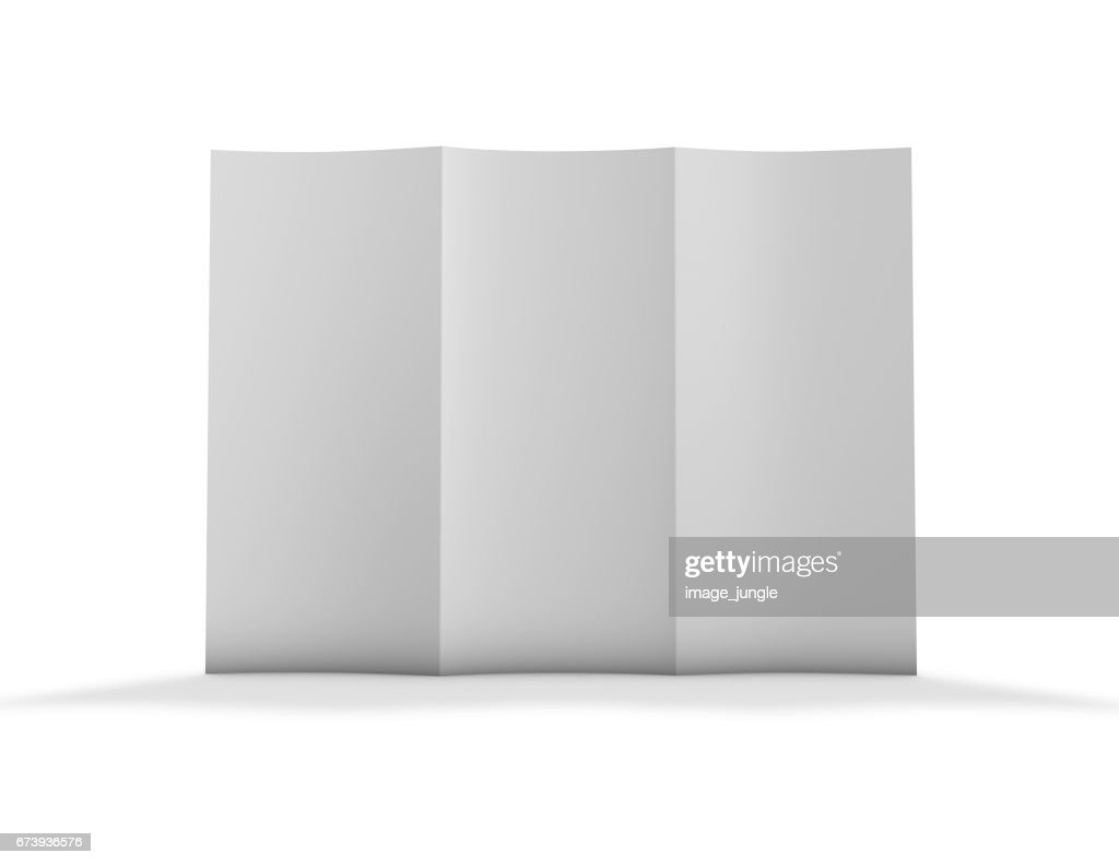 blank trifold brochure flier mockup for your marketing promotions 3d