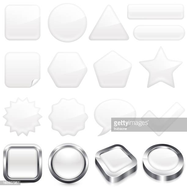 blank white buttons super set - at the edge of stock illustrations