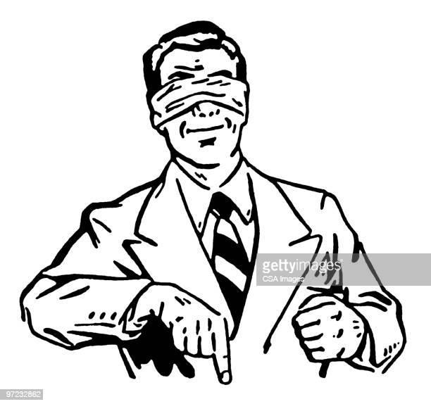 blindfold - looking at camera stock illustrations