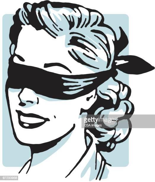 ilustraciones, imágenes clip art, dibujos animados e iconos de stock de blindfold - ojos tapados