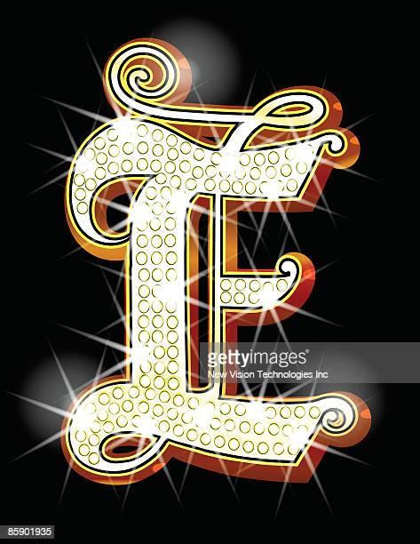 bling alphabet e - bling bling stock illustrations, clip art, cartoons, & icons