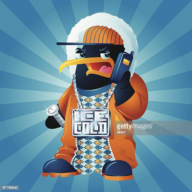 blinguin a.k.a ice cold - bling bling stock illustrations, clip art, cartoons, & icons
