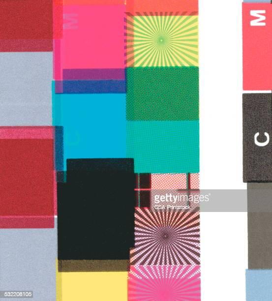 block pattern - colour block stock illustrations